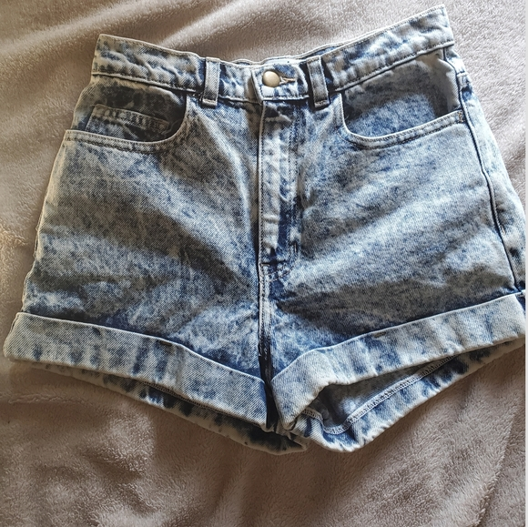 American Apparel Denim Jean Shorts High Waist